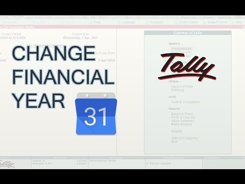 Tally.ERP9 : How to change Financial Year in Tally erp 9  | Next Financial Year