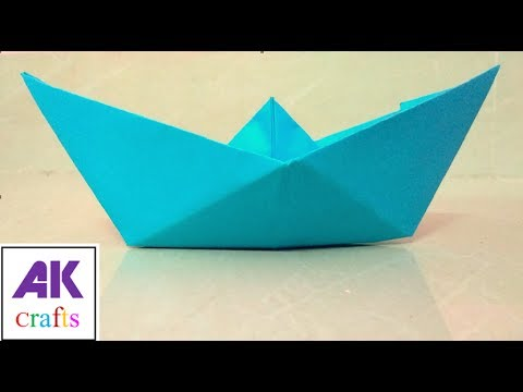Paper craft | How to make Paper Boat | AK crafts | AK Jumble