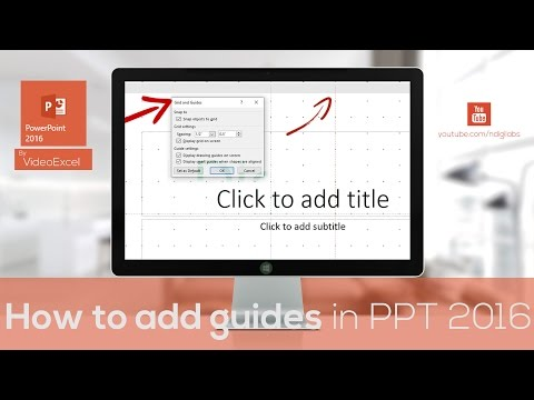 How do you add guides in PowerPoint presentation 2016