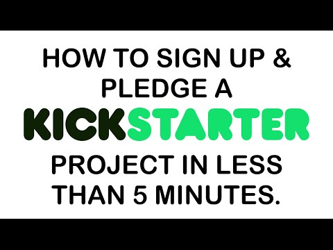 How To Back a Kickstarter Project In Less Than 5 Minutes