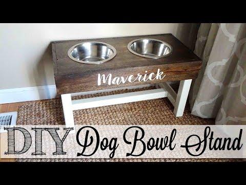 DIY Dog Bowl Stand 🐾