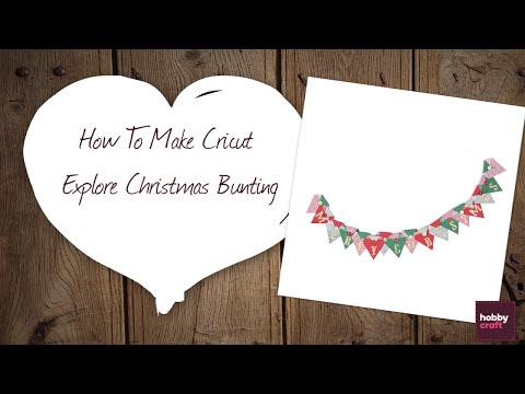 How to Make Cricut Explore Bunting | Hobbycraft