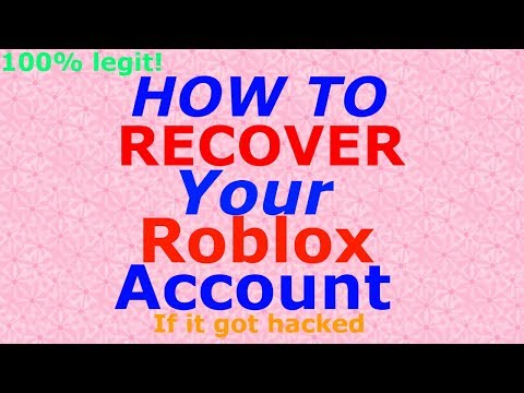 How to Recover Your Roblox Account WITHOUT a password or Email