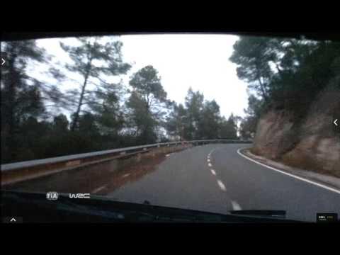 Onboard Kubica rally Catalunya-costa Daurada ss18 2015