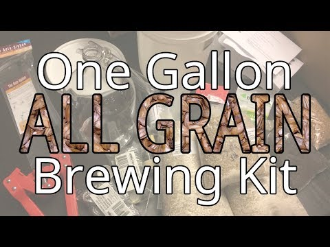 Opening a One Gallon All Grain Brewing Kit