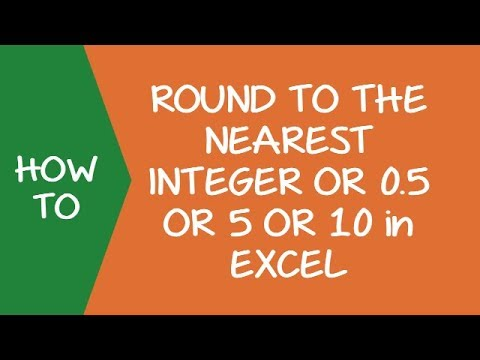How to Round Numbers to the Nearest Integer or 0 5 or 5 or 10 in Excel