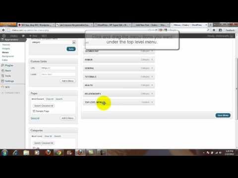 How To: Wordpress Top Level Menu To No Link