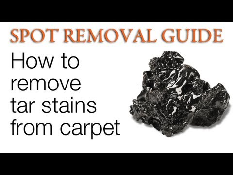 How to Remove Tar from Carpet | Spot Removal Guide
