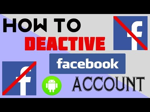 How to Deactivate Facebook Account 2017   How to Deactivate Facebook Account in Mobile