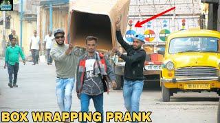 BOX WRAPPING PEOPLE PRANK PART 2! || PRANK IN INDIA || MOUZ PRANK