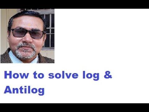 HOW TO SOLVE NEGATIVE ANTILOG