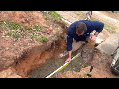 How to prepare a footing for a Retaining Wall | Adbri Masonry