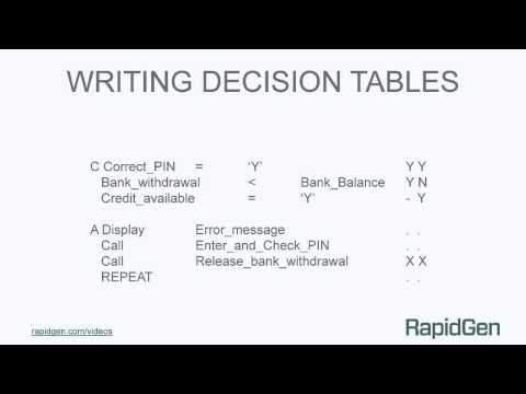 Writing Decision Tables