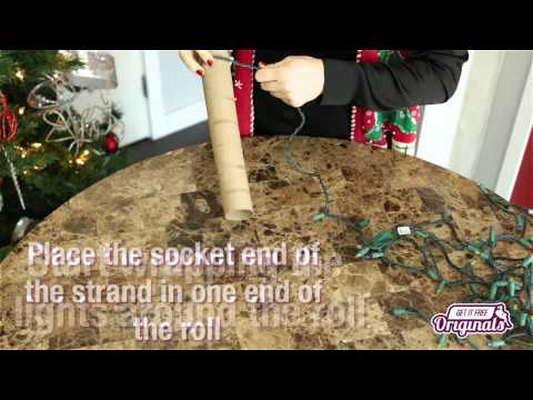 A Quick and Easy Way to Store Your Christmas Lights!