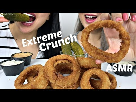 *EXTREME CRUNCH | DEEP FRIED ONION RINGS | N.E Lets Eat & SAS ASMR