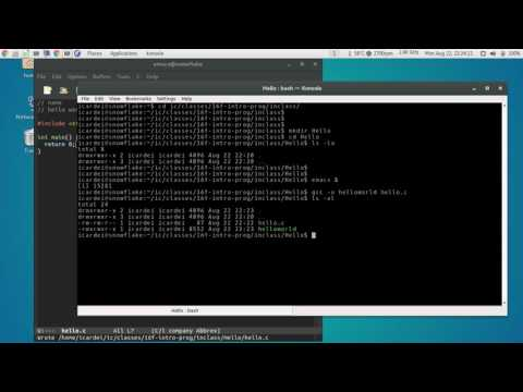 How to edit and compile C programs on linux