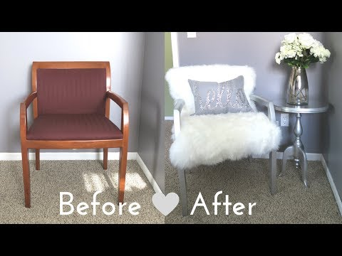 DIY Faux Fur Chair On a Budget  for Under $50!!