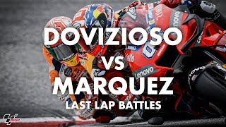 Déjà vu? Dovizioso vs Marquez in last lap battles!