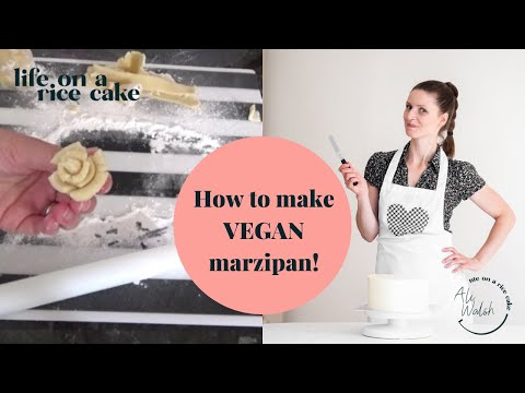 How to make vegan marzipan