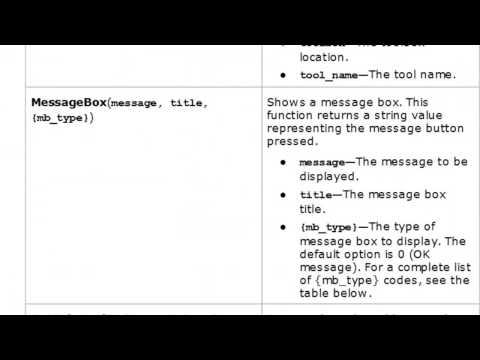 1) Python Add-In Basics