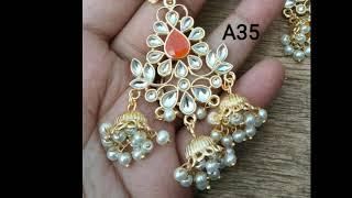 Beautiful earring Collections//Chandbali earrings