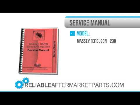3410 New Massey Ferguson MF 230 Tractor Service Manual
