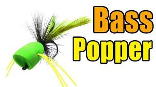 Foam Bass Popper Fly Tying Video Instructions