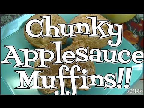 Chunky Applesauce Muffins!!  Hello Autumn!  Noreen's Kitchen
