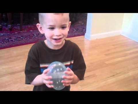 What happens when you fill up water balloons with helium
