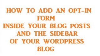 How To Create An Email Form In Your Blog Post And Optin Form