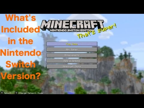 Minecraft Nintendo Switch Edition - What's Included