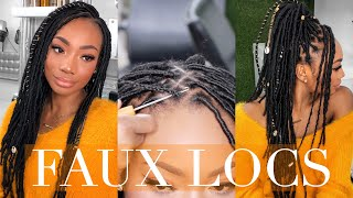 12 HOUR FAUX LOCS! | NATURAL HAIR PROTECTIVE STYLING!
