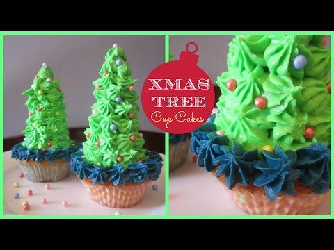 {Christmas} ❄ DIY Xmas Tree Cupcakes Recipe