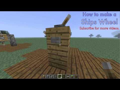 How to build Ship Wheel - Minecraft Tutorial