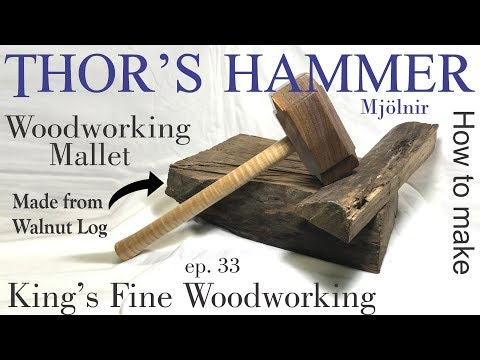 33 - Free Range Thor's Hammer Mjolnir; Woodworking Mallet Made from a Wild Tree