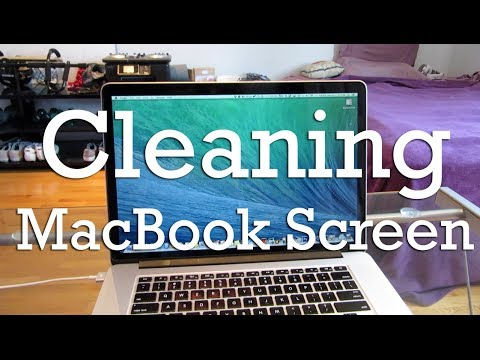 Cleaning a MacBook Pro screen - HiTechJoint