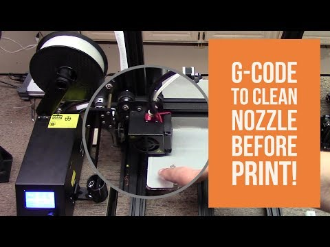 Creality CR10 - GCode to Clean Nozzle Before Printing!