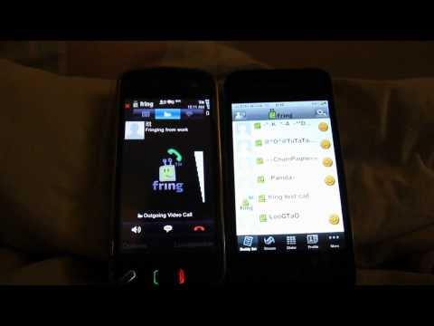 Video Call ระหว่าง iPhone 4 (AT&T 3G) และ Nokia N97 (WiFi) ด้วย Fring