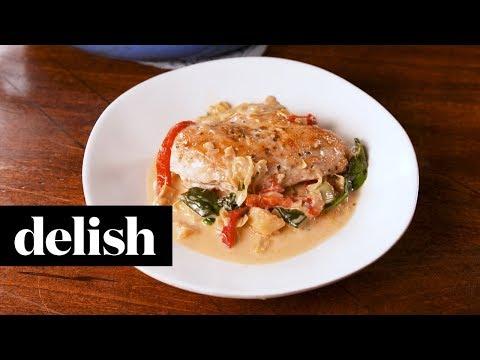 Spinach Artichoke Chicken | Delish