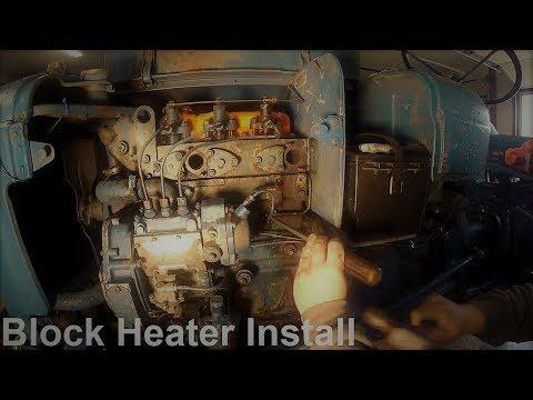 Fordson Dexta Block Heater Install!