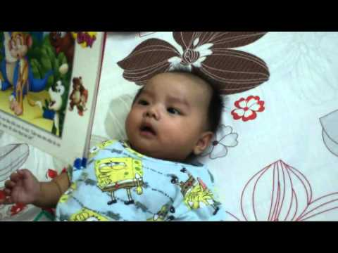 How 3 months old baby learn to read