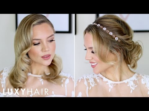 Beautiful Prom & Wedding Hairstyles For Short/Medium Hair | Luxy Hair