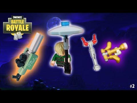 Lego Fortnite - (Minigun, Crossbow, AC/DC And Glider)