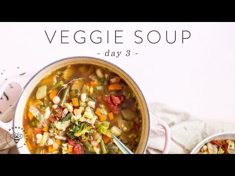 Quick & Healthy VEGETABLE SOUP 🐝 DAY 3