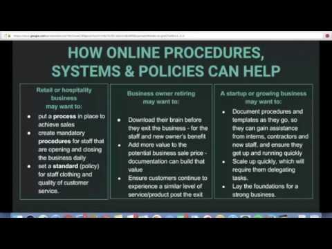 Level Up Program - Online Procedures and Systems - Webinar 7