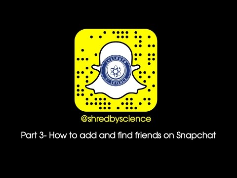 How to use Snapchat Part 3: Adding and finding friends
