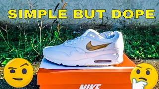 detailed look 80191 ee367 AIR MAX 90 1 WHITE AND GOLD REVIEW