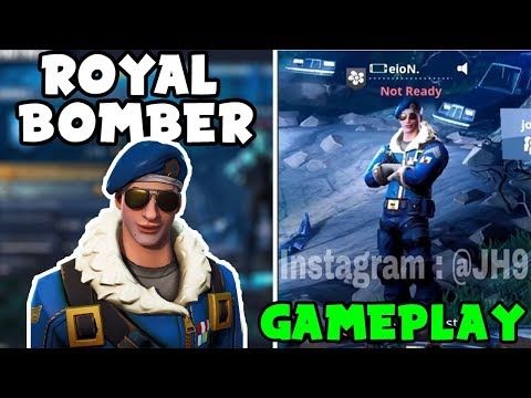 LEAKED ROYAL BOMBER IN-GAME - Fortnite New Leaks! (3D Animated Look and EARLY Gameplay!)