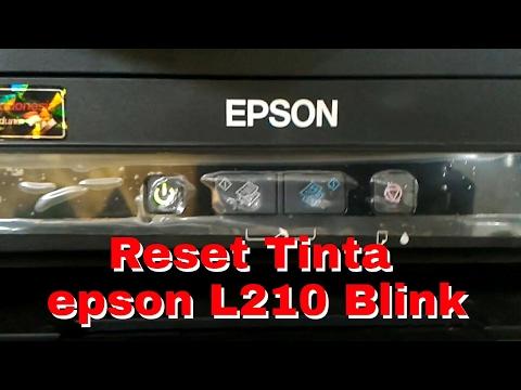 Cara reset tinta epson L210 blink, reset ink epson L210