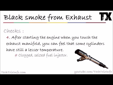 Why black smoke from exhaust | Causes 2